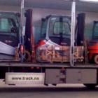 Et nytt tilskudd STILL-trucker fra Andersen Truck på vei til Lofoten Viking