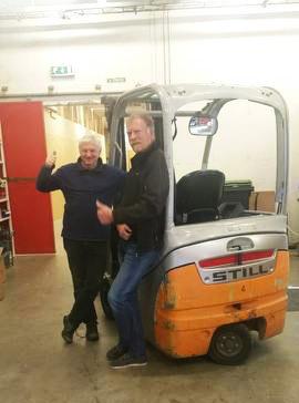 Serviceansvarlig Willy Stene(t.v.) og salgskonsulent Leif-Ove Selland
